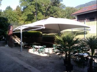 Abri terrasse restaurant à toile aérée - Devis sur Techni-Contact.com - 5