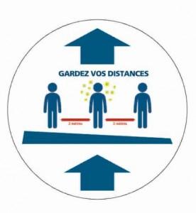 Adhésif pour distance de sécurité - Devis sur Techni-Contact.com - 1