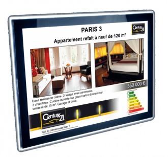 Afficheur lumineux pour agence Century21 - Devis sur Techni-Contact.com - 1