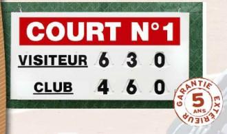 Afficheur score tennis manuel - Devis sur Techni-Contact.com - 1