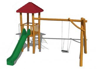 Aire de jeux en bois sur mesure - Devis sur Techni-Contact.com - 5