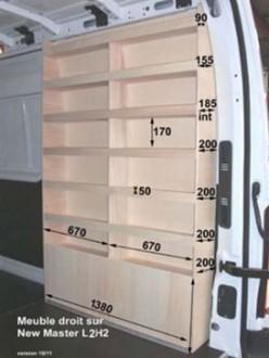 Aménagement en bois pour Nissan NV400 - Devis sur Techni-Contact.com - 7