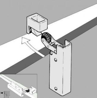 Amortisseur de porte H 1300 - Devis sur Techni-Contact.com - 1