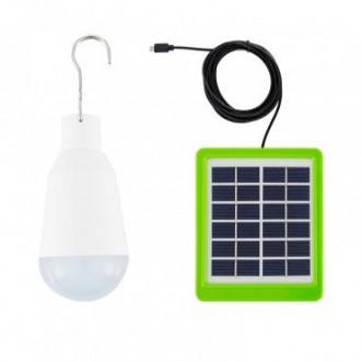 Ampoule LED E27 Portatif avec Chargeur Solaire 2W - Devis sur Techni-Contact.com - 2