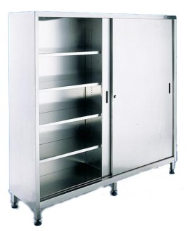Armoire à 2 portes coulissantes inox - Devis sur Techni-Contact.com - 1