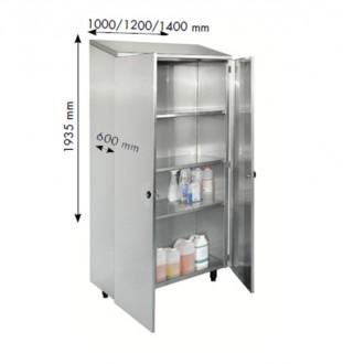 Armoire de cuisine inox à portes battantes - Devis sur Techni-Contact.com - 1