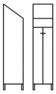 Armoire de rangement vestiaire 1 place - Devis sur Techni-Contact.com - 1