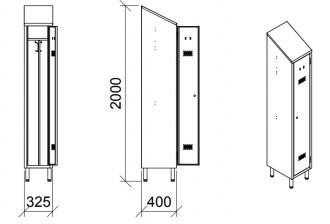 Armoire de rangement vestiaire 1 place - Devis sur Techni-Contact.com - 2