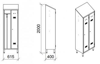 Armoire de rangement vestiaire 2 places - Devis sur Techni-Contact.com - 4