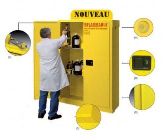 Armoire de sécurité à fermeture automatique - Devis sur Techni-Contact.com - 1