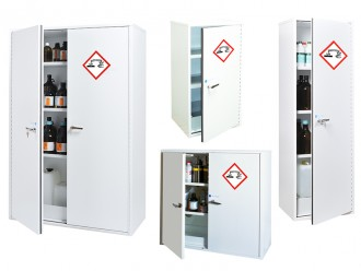 Armoire de sécurité étroite et haute adaptée produits chimiques - Devis sur Techni-Contact.com - 2