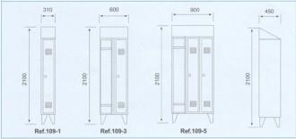 Armoire en acier avec vestiaires pour industrie - Devis sur Techni-Contact.com - 2