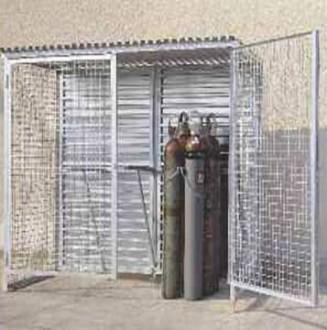 Armoire grillagée pour bouteilles de gaz - Devis sur Techni-Contact.com - 1