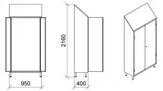 Armoire porte objets inox 2 portes - Devis sur Techni-Contact.com - 2