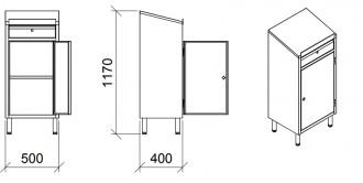 Armoire pupitre d'atelier avec tiroir - Devis sur Techni-Contact.com - 2