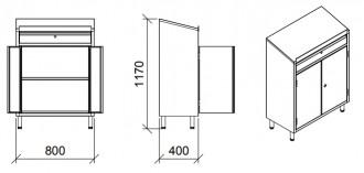 Armoire pupitre inox 2 portes battantes - Devis sur Techni-Contact.com - 2