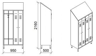 Armoire vestiaire 2 places - Devis sur Techni-Contact.com - 2