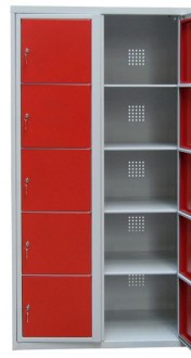 Armoire vestiaire 5 casiers métallique - Devis sur Techni-Contact.com - 1