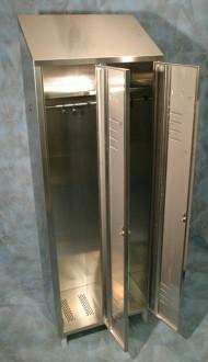 Armoire vestiaire inox 2 portes - Devis sur Techni-Contact.com - 2