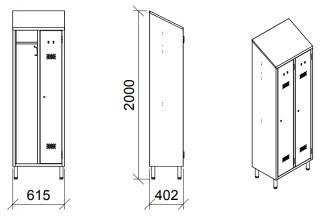 Armoire vestiaire inox 2 portes - Devis sur Techni-Contact.com - 4