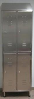 Armoire vestiaire inox 4 portes - Devis sur Techni-Contact.com - 1