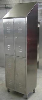 Armoire vestiaire inox 4 portes - Devis sur Techni-Contact.com - 3