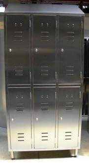 Armoire vestiaire inox 6 portes - Devis sur Techni-Contact.com - 1