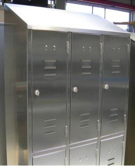 Armoire vestiaire inox 6 portes - Devis sur Techni-Contact.com - 2