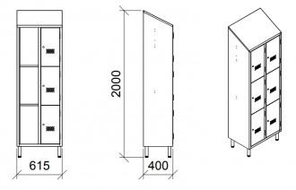 Armoire vestiaire inox 6 portes - Devis sur Techni-Contact.com - 4