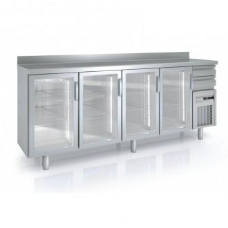 Arrière bar avec portes vitrées - Devis sur Techni-Contact.com - 3