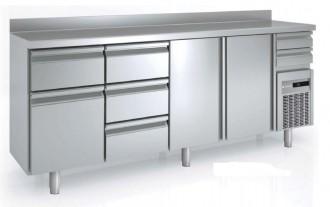 Arrière bar réfrigéré avec tiroirs pleins - Devis sur Techni-Contact.com - 1
