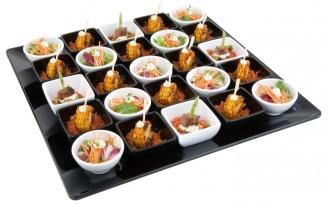 Assiette carrée en mélamine noire 51 x 51 cm - Devis sur Techni-Contact.com - 1