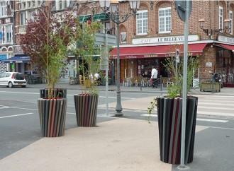 Bac à fleur urbain en plastique recyclé diamètre 50 cm - Devis sur Techni-Contact.com - 2