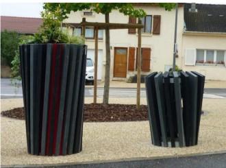 Bac à fleur urbain en plastique recyclé diamètre 50 cm - Devis sur Techni-Contact.com - 3