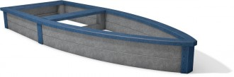 Bac à sable plastique recyclé pirate - Devis sur Techni-Contact.com - 2