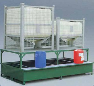 Bac de rétention acier rigide pour cubitainer - Devis sur Techni-Contact.com - 1