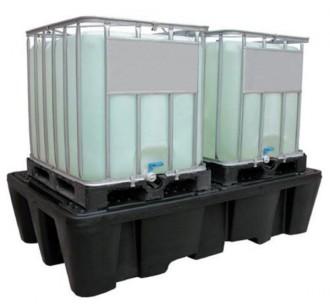 Bac de rétention cubitainers 1100 L - Résistance à la charge : 4000 kg - Devis sur Techni-Contact.com - 1