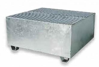 Bac de rétention pour 4 fûts 1000 kg - Devis sur Techni-Contact.com - 1
