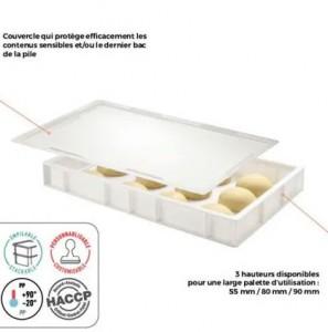 Bacs à pâtons empilables en plastique - Devis sur Techni-Contact.com - 1