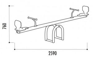 Balançoire à bascule en aluminium  - Devis sur Techni-Contact.com - 2