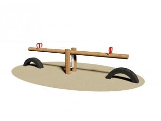 Balançoire à bascule en bois 2 sièges - Devis sur Techni-Contact.com - 1