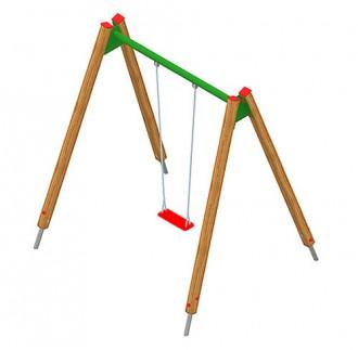 Balançoire en acier ou en bois pour enfants - Devis sur Techni-Contact.com - 1