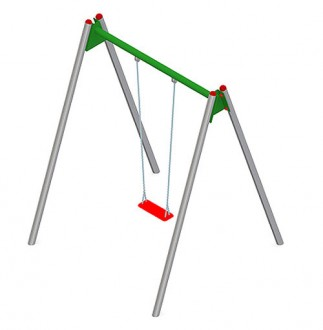Balançoire en acier ou en bois pour enfants - Devis sur Techni-Contact.com - 2