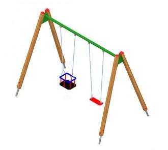 Balançoire en acier ou en bois pour enfants - Devis sur Techni-Contact.com - 3