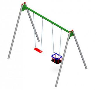 Balançoire en acier ou en bois pour enfants - Devis sur Techni-Contact.com - 4