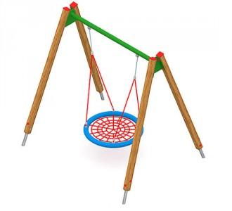 Balançoire en acier ou en bois pour enfants - Devis sur Techni-Contact.com - 5