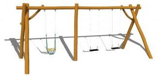 Balançoire en acier ou en bois pour enfants - Devis sur Techni-Contact.com - 8