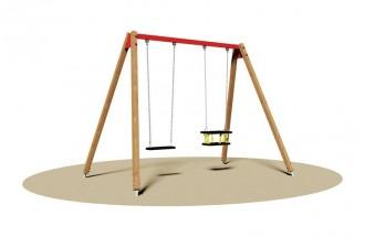 Balançoire en bois 2 sièges - Devis sur Techni-Contact.com - 1