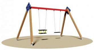 Balançoire en bois à 2 sièges - Devis sur Techni-Contact.com - 1