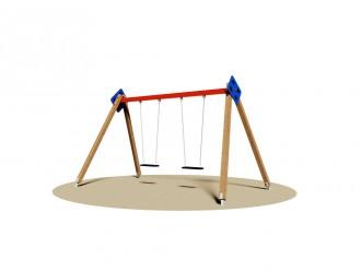 Balançoire en bois à 2 sièges - Devis sur Techni-Contact.com - 2